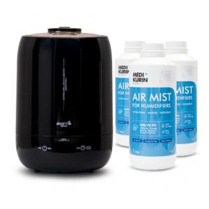 MEDI+KURIN HOCL Air Mist [3×1 Liter] + DEERMA M800 Black Pearl Air Humidifier