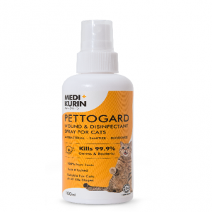 MEDI+KURIN HOCL PettoGard Wound & Disinfectant Spray For Cats 100ml