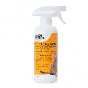 MEDI+KURIN HOCL PettoGard Wound & Disinfectant Spray For Cats 500ml