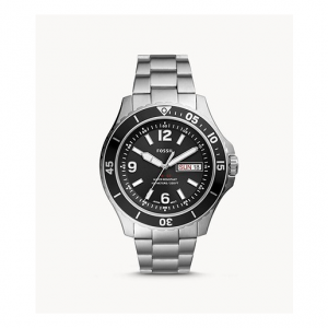 Fossil FB-02 Three-Hand Date Stainless Steel Watch