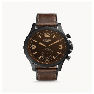 Fossil Hybrid Smartwatch Nate Dark Brown Leather