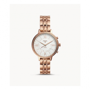 Fossil Hybrid Smartwatch Jacqueline Rose Gold-Tone Stainless Steel