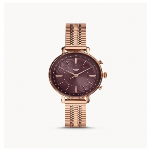 Fossil Hybrid Smartwatch Cameron Rose Gold-Tone Stainless Steel