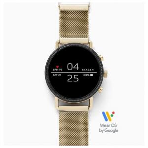 Skagen Smartwatch – Falster 2 Gold-Tone Mesh