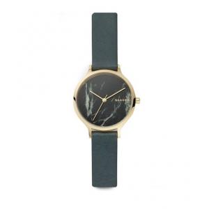 Skagen Anita Green Leather Stone Watch