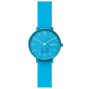Skagen Aaren Kulor Neon Blue Silicone 36mm Watch