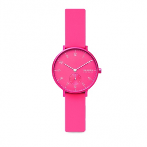 Skagen Aaren Kulor Neon Pink Silicone 36mm Watch