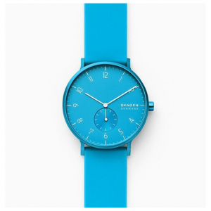 Skagen Aaren Kulor Neon Blue Silicone 41mm Watch