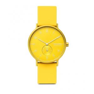 Skagen Aaren Kulor Neon Yellow Silicone 41mm Watch
