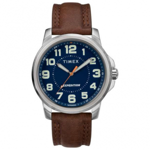 Timex Expedition Metal Field 40mm Leather Strap Watch