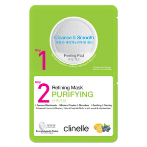 Clinelle Peeling Pad 6ML, Refining Mask 25ML – Purifying