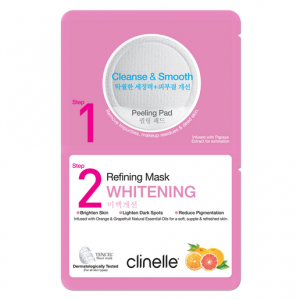 Clinelle Peeling Pad 6ML, Refining Mask 25ML – Whitening