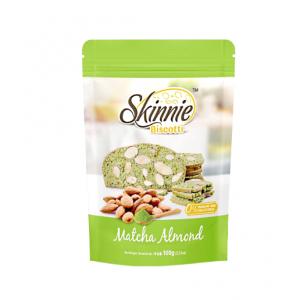 Skinnie Biscotti Matcha Almond
