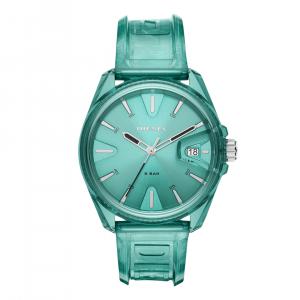 Diesel MS9 Three-Hand Green Transparent Watch