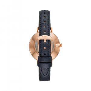 Fossil Kalya Three-Hand Navy Leather Watch