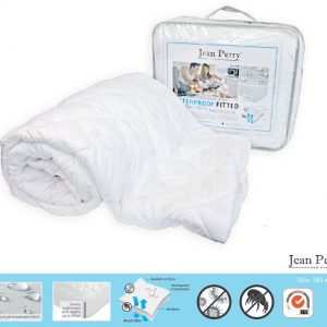 Jean Perry – Waterproof Fitted Mattress Protector – King  (183 x 190cm)