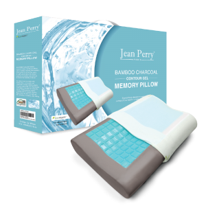 Jean Perry – Bamboo Charcoal GEL Contour Memory Pillow